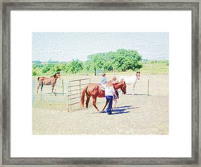 'kids Horse Heaven' Framed Print
