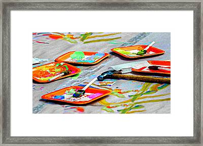 Kid's Play Framed Print by Diana Angstadt