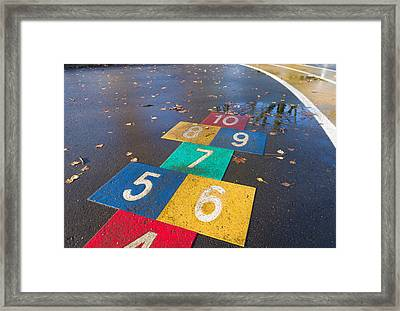 Kids Playground Framed Print by Hans Engbers