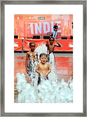 Kids Summer Fun Framed Print by Valentino Visentini