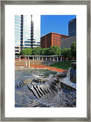 Kiener Plaza Morning Framed Print