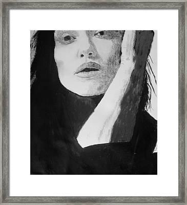Kiera Knightley Framed Print by Dan Twyman