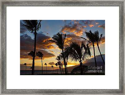Framed Print featuring the photograph Kihei At Dusk by Peggy Hughes
