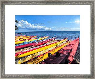 Framed Print featuring the photograph Kihei Canoe Club 6 by Dawn Eshelman