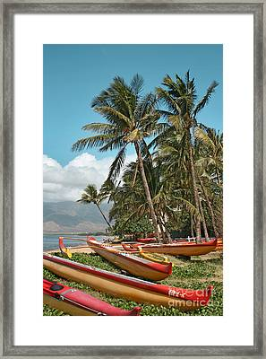 Framed Print featuring the photograph Sugar Beach Kihei Maui Hawaii by Sharon Mau