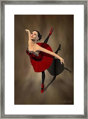 Kiko - Ballerina Portrait Framed Print by Alfred Price