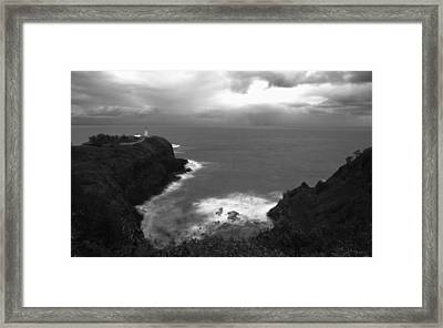 Kilauea Lighthouse I Framed Print by Maxwell Amaro