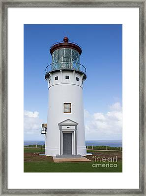 Framed Print featuring the photograph Kilauea Lighthouse by Suzanne Luft