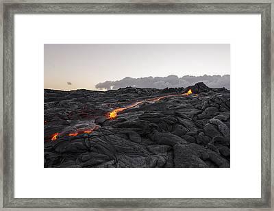 Kilauea Volcano 60 Foot Lava Flow - The Big Island Hawaii Framed Print