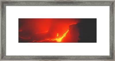 Kilauea Volcano Hawaii Hi Usa Framed Print by Panoramic Images