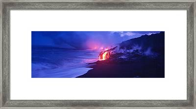 Kilauea Volcano, Hawaii, Usa Framed Print