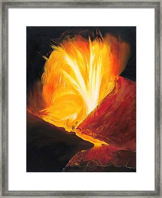Kilauea Volcano In Hawaii Framed Print by Phillip Compton
