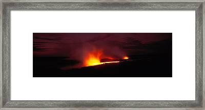 Kilauea Volcanoes National Park Hawaii Framed Print
