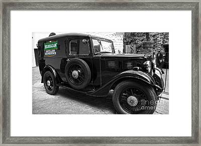 Kilbeggan Distillery's Old Car Framed Print by RicardMN Photography
