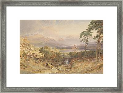 Kilchurn Castle, Argyllshire, 1865 Wc, Bc, Scratching Out And Graphite On Paper Framed Print by William Leighton Leitch