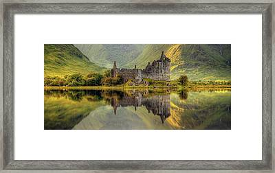 Kilchurn Castle Reflection In Loch Awe Framed Print