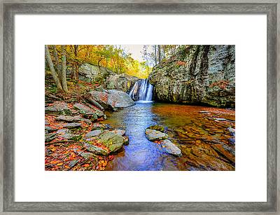 Kilgore Falls In Maryland In Autumn Framed Print