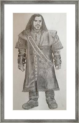 Kili From The Hobbit Framed Print by Noah Burdett