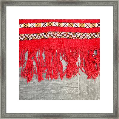 Kilim Rug Framed Print by Tom Gowanlock