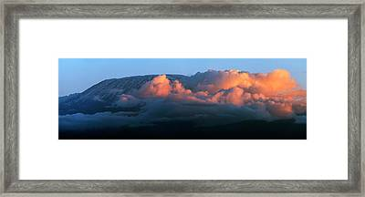 Kilimanjaro At Sunset Framed Print by Babak Tafreshi