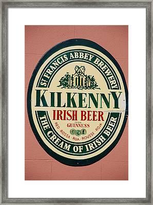 Kilkenny Irish Beer Framed Print
