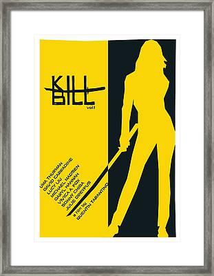 Kill Bill Vol.1 Poster  Framed Print by Geraldinez