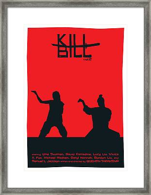 Kill Bill Vol.2 Poster Framed Print by Geraldinez