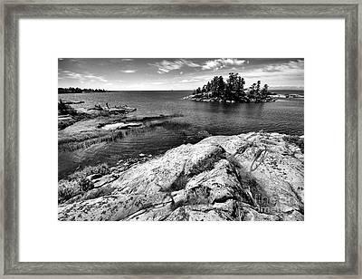 Killarney Rock Islands Framed Print by Charline Xia