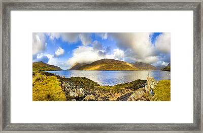 Killary Fjord - Irish Panorama Framed Print by Mark E Tisdale