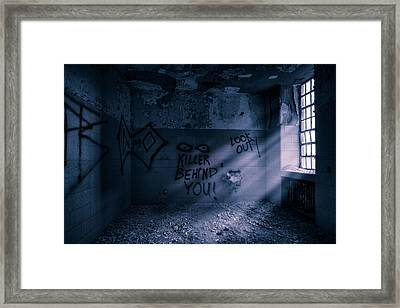 Killer Behind You - Abandoned Hospital Asylum Framed Print