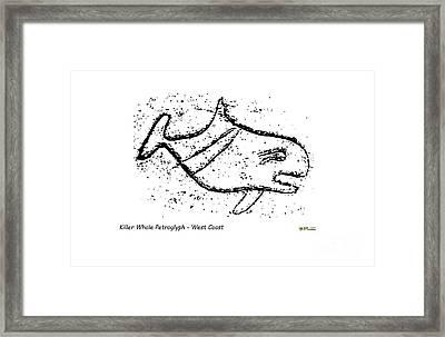 Killer Whale Petroglyph Framed Print