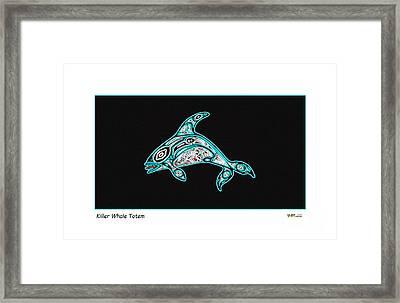 Killer Whale Totem Framed Print