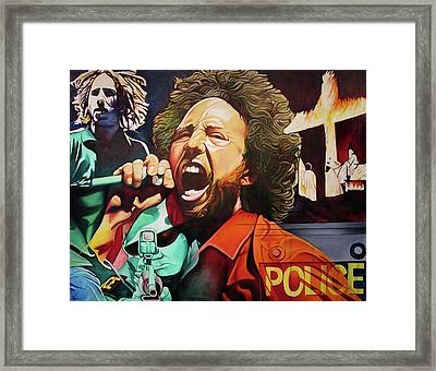 Killing In The Name Framed Print