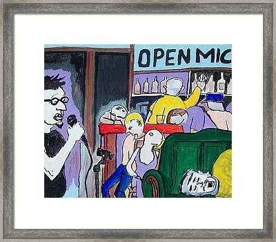 Killing - Open Mic Framed Print by James Christiansen