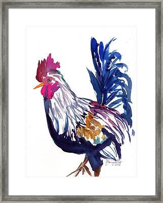 Kilohana Rooster Framed Print
