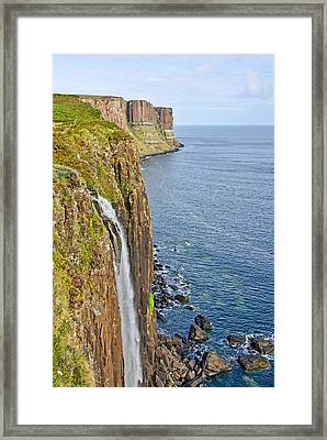Kilt Rock Waterfall Framed Print