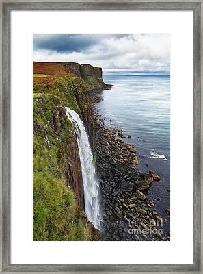 Kilt Rock Waterfall Framed Print by Jane Rix