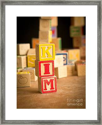 Kim - Alphabet Blocks Framed Print by Edward Fielding