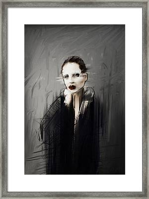 Kim In A Robe Framed Print by H James Hoff