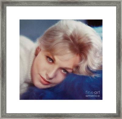 Kim Novak Blue Framed Print by Frank Bez