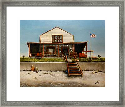 Kimball Cottage Wells Maine Framed Print by Michelle Iglesias