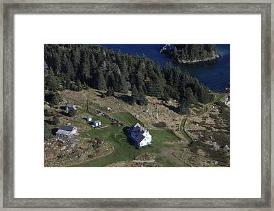 Kimball Island House Overlooking The Framed Print by Dave Cleaveland