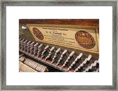 Kimball Piano-3476 Framed Print by Gary Gingrich Galleries