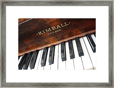 Kimball Piano-3479 Framed Print by Gary Gingrich Galleries