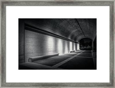 Kimbell Benches Framed Print