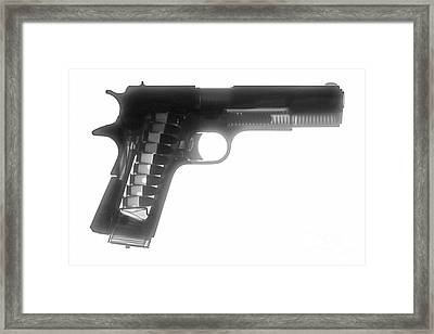 Kimber 1911 Framed Print by Ray Gunz