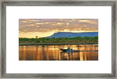 Framed Print featuring the photograph Kimberley Dawning by Holly Kempe