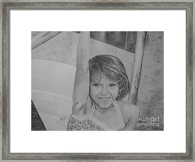 Kimberly In Black And White Framed Print