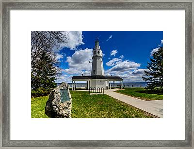 Kimberly Point Lighthouse Framed Print by Randy Scherkenbach