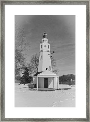 Kimberly Point Lighthouse Framed Print by Thomas Young